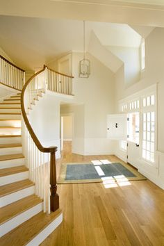 """The floors are 6"""" Quarter Sawn White Oak. No stain, just standard poly finish ( I would like a darker color)"""
