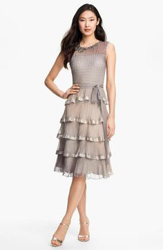 Black by Komarov Embellished Tiered Ombré Chiffon Dress available at Nordstrom. I want this dress for my little cousin's wedding this August.
