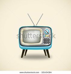 old television ,retro and vintage style by MR.LIGHTMAN, via ShutterStock