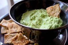 Edamame Hummus. A delicious twist on something that is already one of my faves.