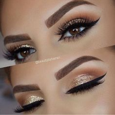 @2busyfangirling #makeupgamestrong #glitter #makeup #lashes #brows #stunning #beautiful