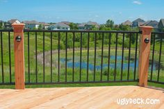 Remodel or build new with maintenance free decking materials and deck railings.