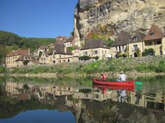 canoeing on the Dordogne River in France