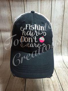 Boat Hair Don t Care Trucker Hat   Custom Trucker Hats  Raveled Edges   a89276713648