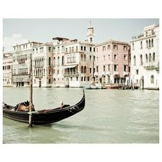 30% off - Venice Photography Black boat Enchanting Venice Italy white... found on Polyvore