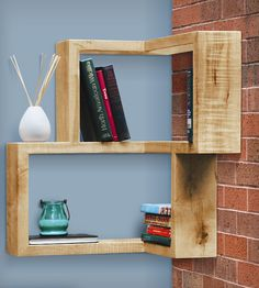 Clever corner shelf by Tronk Design // this is a brilliant idea for an awkward, empty corner