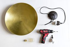 DIY Pendant lamp, IKEA bowl // smittenstudio