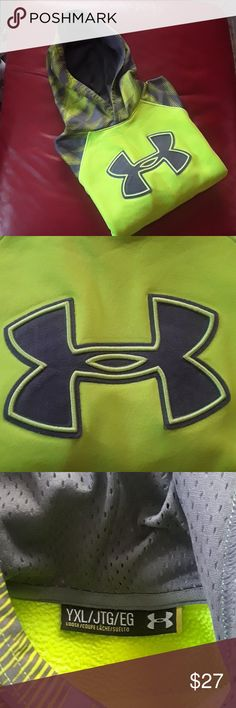 Under Armour Hoodie (boys) Under Armour Hoodie (boys),color green neon and gray Under Armour Jackets & Coats