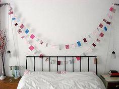 Slaapkamer inspiratie: simpele slingers | Inrichting-huis.com