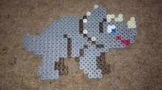 Dinosaur Hama Beads Design, Hama Beads Patterns, Beading Patterns, Beaded Crafts, Beaded Ornaments, Pearler Beads, Fuse Beads, Dinosaur Crafts, Iron Beads