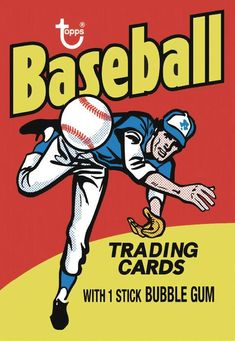 Topps adds vintage baseball card wrappers to its wall art offerings - Beckett News Baseball Card Packs, Old Baseball Cards, Basketball Cards, Baseball Posters, Baseball Art, Thing 1, Canvas Paper, Trading Cards, Vintage Posters