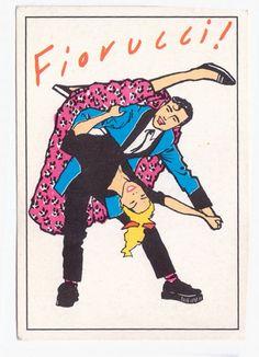 FIORUCCI Panini sticker italy sticker collection by Mokusaiya Italo Disco, Zine, Pop Culture, Pop Art, Stickers, Superhero, Handmade Gifts, Illustration, Posters