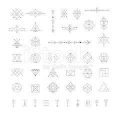 Set of vector trendy geometric icons. royalty-free stock vector art