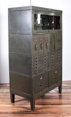 Unique Shaw Walker Wood File Cabinet