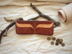 Leather billfold brown billfold handmade billfold by ProsWallets