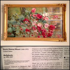A floral painting crafted by Bessie Hoover, who was also a local artist from Cincinnati.