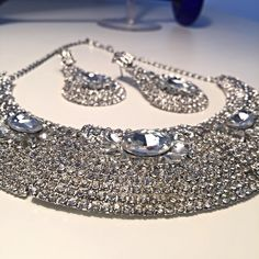 A personal favorite from my Etsy shop https://www.etsy.com/listing/237162454/jewelry-set-necklace-chandelier-earrings