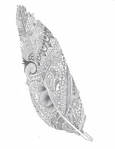 free coloring pages, printable feather coloring page Abstract Coloring Pages, Flower Coloring Pages, Disney Coloring Pages, Coloring Book Pages, Coloring Sheets, Mandala Coloring, Coloring Tips, Coloring Pages For Grown Ups, Printable Adult Coloring Pages