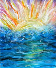 Sun and Ocean Painting