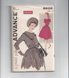 Advance 9626 Pattern for Misses' Pretty Dress by VictorianWardrobe, $12.00