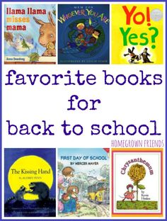 Favorite Back to School Books