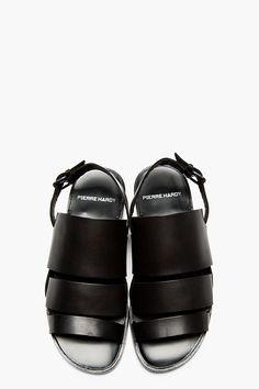 PIERRE HARDY Black Slingback Sandals