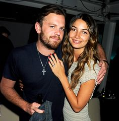 acaleb followill, the kings of leon rocker and lilly aldridge, victoria's secret model