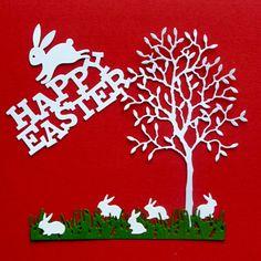 Die Cut and Embossed Grand Alder Tree Rabbit Family by MelAriandme