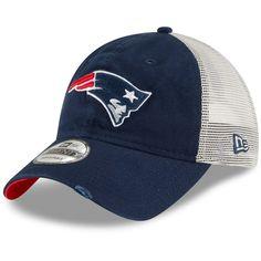 Men s New England Patriots New Era Navy Stated Back Trucker 9TWENTY  Adjustable Hat 389cc1a03