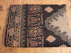 Indian Vintage Throw Kantha Quilt Hippie Cover Handmade Duvet Tribal Comforter 1 #Handmade #kantha