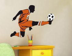 Elegant  Wandtattoo Fu ball No UL Fu ball Schuss Kinderzimmer Trends