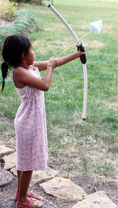 DIY PVC Bow and Arrow - Thanks to Hunger Games and Brave I think we're gonna see more stuff like this.  Yay!