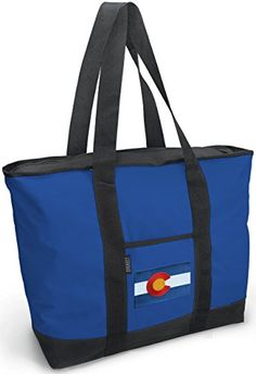 Colorado Tote Bag Blue Colorado Flag Bags For Travel or Beach -- You can get additional details at the image link.