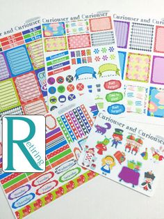 Pinning for later! These stickers are perfect. Available at Crafted By Corley on Etsy. Curiouser and Curiouser Weekly Planner Kit - Erin Condren Vertical and Horizontal Life Planner Stickers Weekly Sticker Set No White Space by CraftedByCorley
