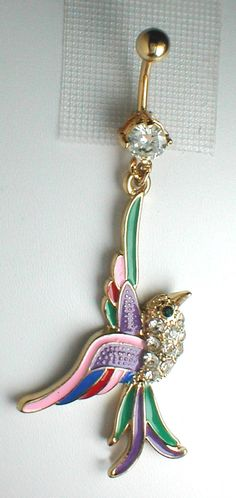 Unique Belly Rings   Unique Belly or Navel Ring - Fancy Bird
