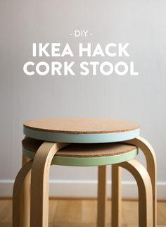 DIY – Pall med kork, IKEA hack