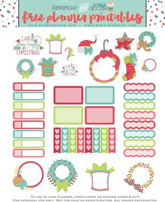 Free Printable Christmas Planner Stickers from Dorky Doodles Agenda Planner, Passion Planner, Free Planner, Happy Planner, Sticker Sheet Printing, Planners, Bullet Journal Cover Ideas, Free Christmas Printables, Free Printables