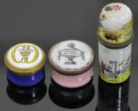 A late 18th Century Staffordshire pottery enamel patch boxes