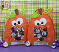 Cute Halloween Treat Bags.  Cutting File from Pretty Paper, Pretty Ribbons