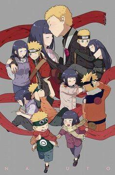 Naruto y Hinata con el pasar de los años