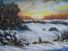 Sunset snow Hanging Paintings, Artwork Display, Acrylic Art, Sunset, Landscape, Canvas, Gallery, Frame, Dawn