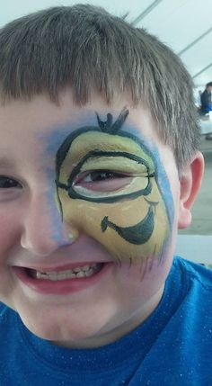 Specializing in face painting and balloon animal creations. Minion Face Paint, Cartoon Faces, Balloon Animals, Minions, Carnival, Fun, Painting, The Minions, Painting Art