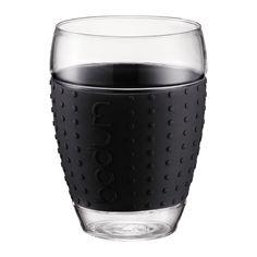 Bodum PAVINA Set 2 stuks glazen 0,45 l ZWART - 2x aankopen ! goedkoopste Deschacht