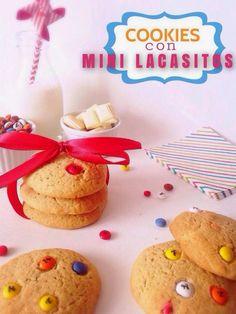 Cookies de Lacasitos y Chocolate Blanco
