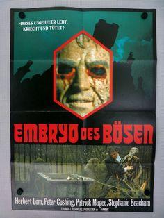 PETER CUSHING EMBRYO DES BÖSEN * FENGRIFFEN A1 Filmposter GB1973 - 82