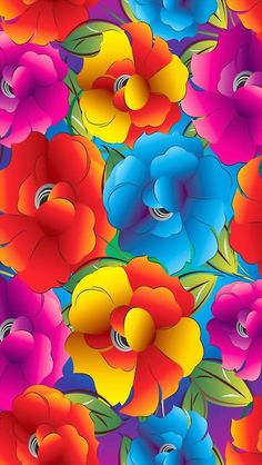 Diy Diamond Painting Kits Abstract Flower PatternView our website to place order. Take your imagination and creativity to a new level with DIY Paint by Diamond Painting Tag 5 Art lovers here for a chance to get your kit for FREE. Colors Of The World, All The Colors, Bright Colors, Colorful Wallpaper, Flower Wallpaper, Fractal Art, Rainbow Colors, Color Splash, Iphone Wallpaper