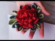 How to make this ribbon rose, 2 parts. Easy technique. Great looking