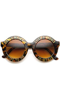 b4818a8add8e ZeroUV - Womens Oversized Bold Rim Font Frame Round Sunglasses (Tortoise)  Best Price Heart