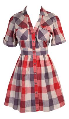 Western Dress - I really want to make a dress in this style to wear with my boots this fall! :)
