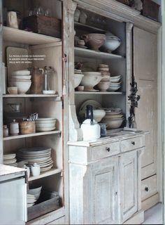 Vintage Cabinets and Ironstone -  Crockery and Flea Market: Casa Chic www.serviesenbrocante.nl